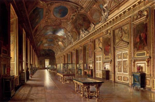 La Galerie D Apollon Au Louvre